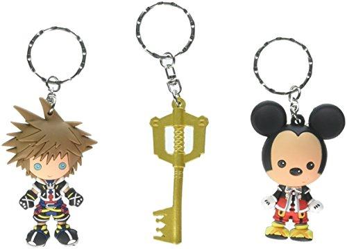 SDCC 2017 Comic Con Exclusive Monogram Kingdom Hearts 3 PC Keyring Keychain Set - Exclusive Heart