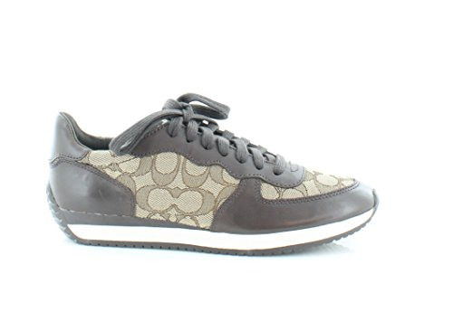 Scarpe Da Ginnastica Donna Farah Low Top Stringate Fashion Sneakers Castagne Nappa / Khaki Outline Sig C