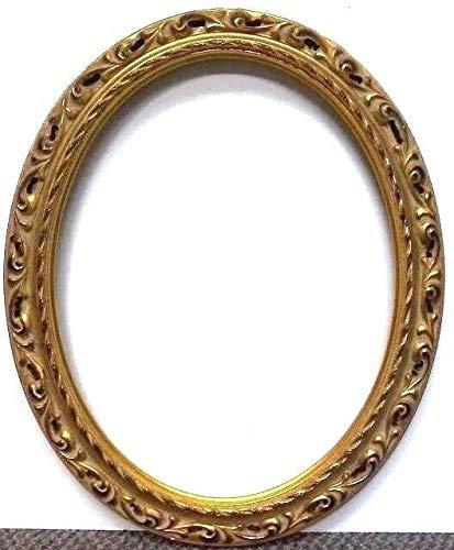 StandardPictureFrames 16 x 20 Standard Hand LEAFED Gold Venetian Oval Picture Frame Pierced (16 X 20) ()