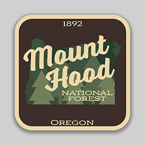 JMM Industries Mount Hood National Forest Oregon Vinyl Decal Sticker Car Window Bumper 2-Pack 4-Inches 4-Inches Premium Quality UV-Protective Laminate PDS1432 (Best Hikes In Mount Hood National Forest)