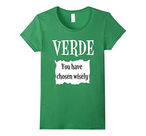 Womens Verde Green Sauce Packet Shirt - Halloween Costume T-Shirts Large (Coworker Halloween Costumes)