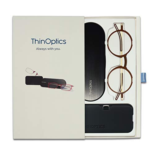 ThinOptics Limited Edition Gift Box Set | Manhattan Glasses and Headline Glasses, 2.50 Magnification in Black
