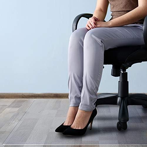 Floortex Cleartex Megamat Heavy-Duty Polycarbonate Chair Mat For Hard Floors and Carpets, 46 x 60 , Clear FCM121525ER