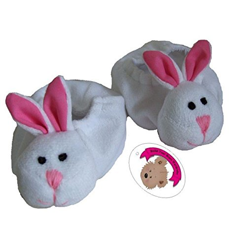 Slippers PINK Rabbit Teddy Bear Clothes fit 15in Build a Bear