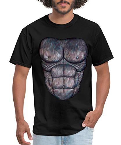 Spreadshirt Gorilla Chest Costume Men's T-Shirt, XL, Black