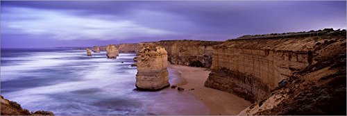 (Rock Formations, Twelve Apostles Sea Rocks, Great Ocean Road, Port Campbell National Park, Port Campbell, Victoria, Australia by Panoramic Images Laminated Art Print, 51 x 17 inches)