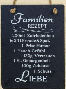 Letrero Recetas Decoración Hogar texto en Alemán en Pizarra ...