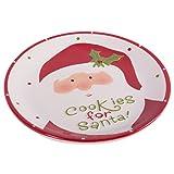 DII Christmas Ceramics Cookie Serving Plate - Santa