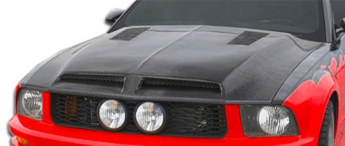 2005-2009 Ford Mustang Carbon Creations GT500 Hood - 1 (Mustang Gt500 Carbon Fiber)