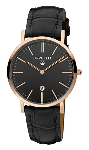 ORPHELIA Women's Analogue Light Lusion Black Leather-11606