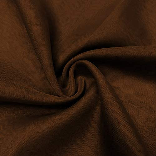 Event Decor Direct 10FT Wide x 18FT Long Sheer Voile Curtain Panel W 4 inch Pockets – Chocolate Brown