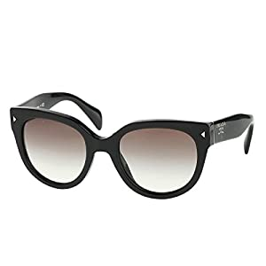 Prada PR17OS Cat Eye Women's, Black Frame, Grey Gradient 54mm