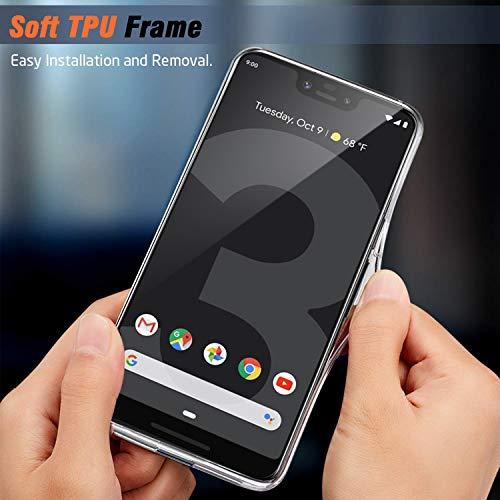 YOKIRIN Google Pixel 3 XL Clear Case, Slim [Anti-Slip] [Anti-Fingerprint] Christmas Reindeer Full-Body Protective Phone Case Cover for Google Pixel 3 XL for $<!--$3.99-->