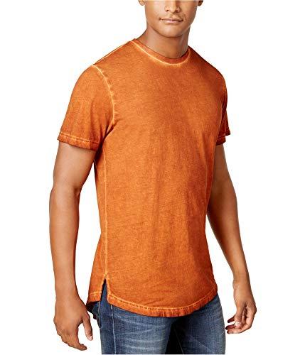 American Rag Mens Crew Neck Basic T-Shirt, Orange, Large