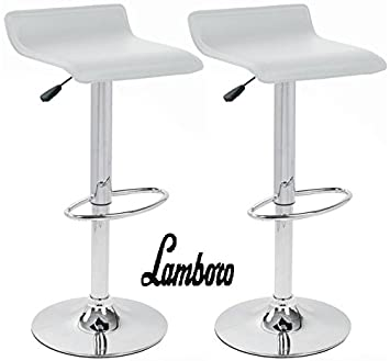 Strange Bargains Galore 2 X White Breakfast Bar Stool Faux Leather Barstool Kitchen Stools Chrome Chair Gmtry Best Dining Table And Chair Ideas Images Gmtryco