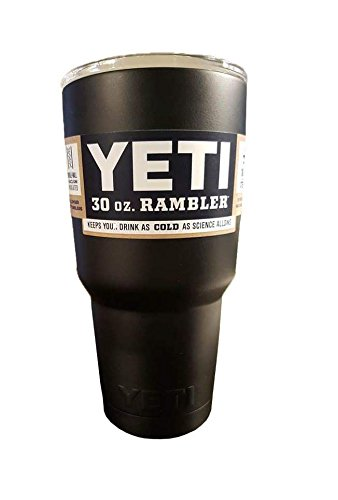YETI Coolers Rambler Tumbler, Stainless Steel, 30oz, One Size (Matte Black)