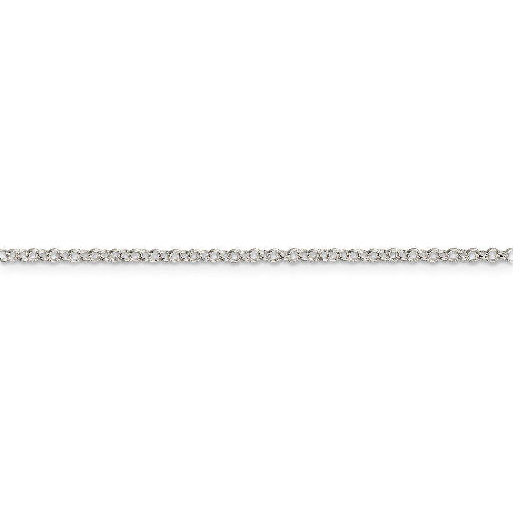 20 Mia Diamonds 925 Sterling Silver Solid 2mm Rolo Necklace Chain 20in x 2mm