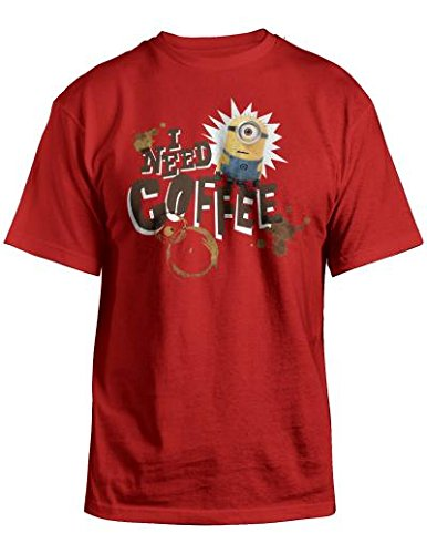 Minion Outfits For Adults (Despicable Me Minions I Need Coffee Men's T-shirt (2XL))