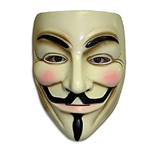 ZLLJH V for Vendetta Mask Guy Fawkes Anonymous Halloween Masks Fancy Dress Costume -