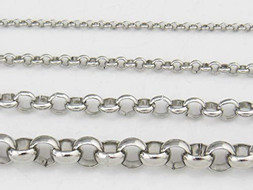 33ft 3mm Width Stainless Steel Rolo Cable Chains Findings Fit for Jewelry Making /&DIY SC-1027-C