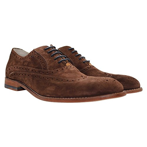Oliver Sweeney Hommes Chaussures en daim Fellbeck Oxford UK 10 Chocolat