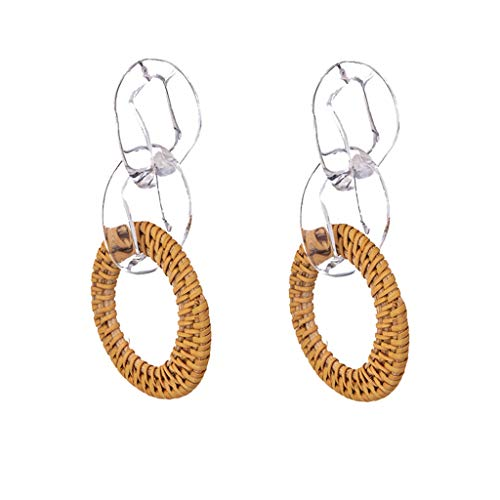 HCDjgh big earings for women Punk Geometric Multilayer Nesting Earring mother's day gifts for mom(White) from HCDjgh