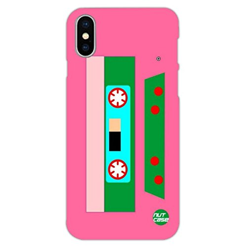 Nutcase Designer Apple iPhone X/ iPhone 10 Case : Matte Slim Hard Back Cover For Apple iPhone X/ iPhone 10 - Retro CD (Slim Colored Multi Cd)