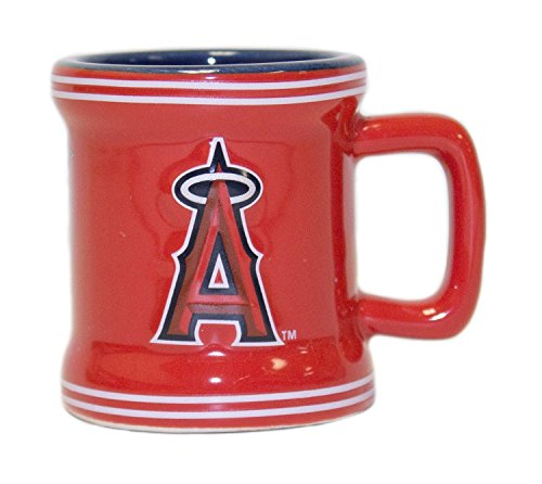 MLB Officially Licensed Sculpted 2 oz Mini Mug Shot Glass (Anaheim Angels)