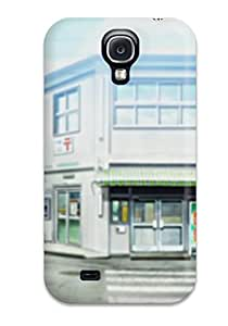 High Quality Shock Absorbing Case For Galaxy S4-buildings Illustrations Roads Anime Nichijou