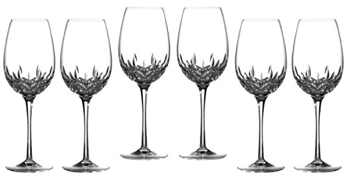 Waterford Crystal Lismore Essence Goblet Glasses Deluxe Gift Box, #155590, Set of 6