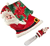 Fitz and Floyd Sweet Holiday Santa Snack Plate and Spreader Set
