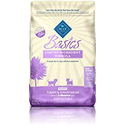 BLUE Basics Limited Ingredient Diet Puppy Turkey & Potato Dry Dog Food 24-lb
