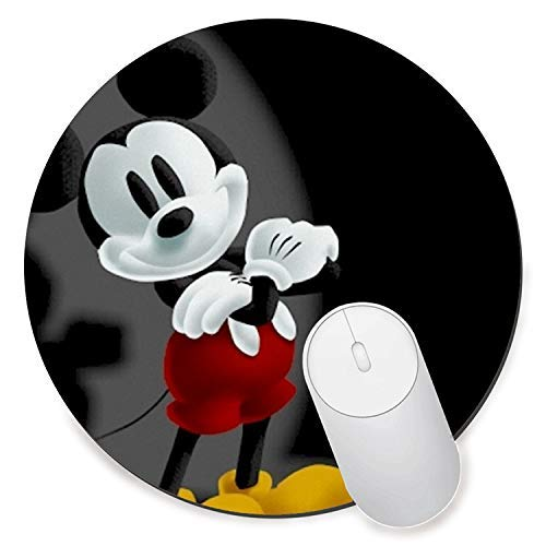 Mickey Mouse Pad - Round Gaming Mouse Pad Creative Custom Non-Slip Mouse Mat-Best Mickey Mouse