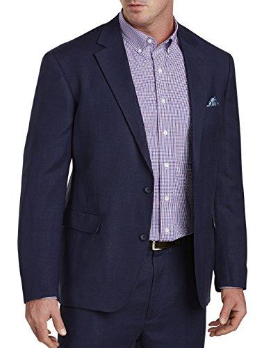 Oak Hill DXL Big and Tall Suit Jacket 2B, Navy 5XL - Mens Navy Linen Suit Jacket