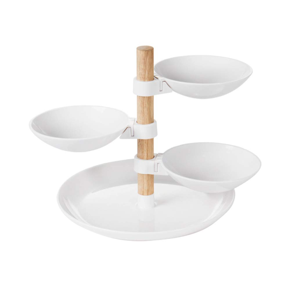 TOPBATHY 4-Tier Countertop Tray Display Serving Tray Cake Stand for Sandwiches Cake Desert Candy Fruit