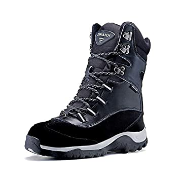 Winter new outdoor snow boots womens warm womens shoes cotton shoes mens cotton boots wild boots womens boots plus velvet plus hair plus size couple anti-fur short Martin boots slip resistant wate