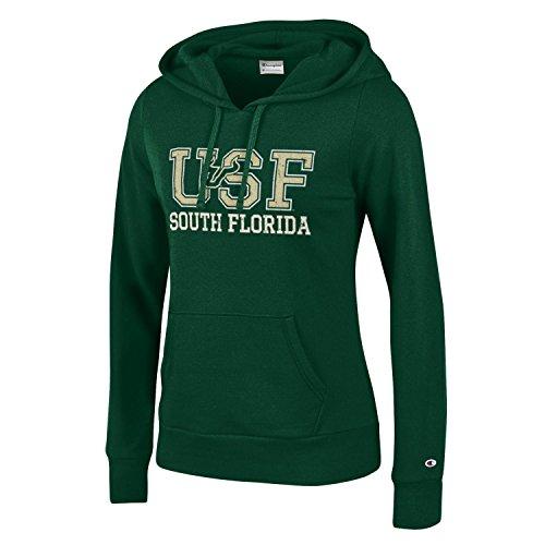 Ncaa Florida University - Champion NCAA South Florida Bulls Women's University Fleece Hoodie, Large, Dark Green