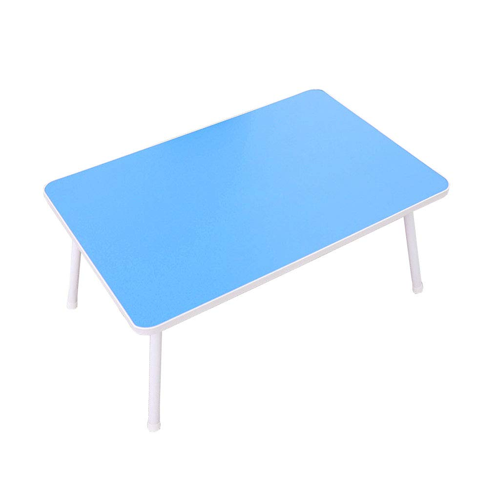 bluee Folding Computer Desk Home Bedroom Convenient Desk greenical Office Rack Multi-Functional Bracket Dormitory Simple Lazy Table