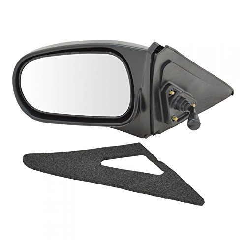 Manual Remote Side View Door Mirror LH Left Driver Side for 96-00 Honda Civic ()