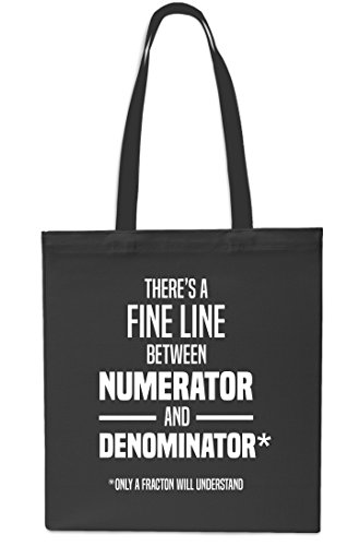 Beach Black Numerator There's Between litres Black Gym x38cm And Tote Denominator A 42cm Shopping Bag 10 Fine Line wqqfWrvxFT