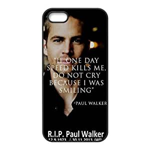 Paul Walker Fashion Comstom Plastic case cover For Iphone 5s