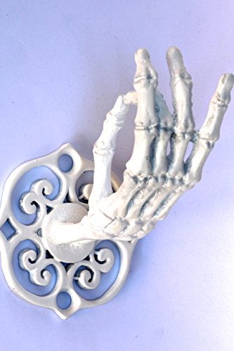 White Metal Skeleton Hand Wall Hook Coat Rack Jewelry Rack Made in NYC