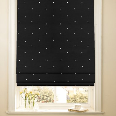 Roman Blinds In Made To Measure Sizes Diamante Black Amazon Co Uk