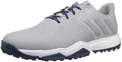 adidas Men's Adipower s Boost 3 Golf Shoe, Grey/Noble Indigo, 13 M US