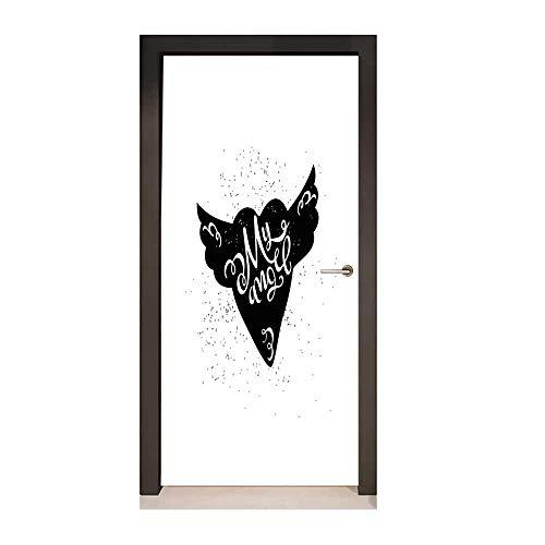 Homesonne Romantic Decorative Door Sticker Cartoon Heart with