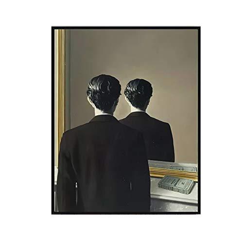 Rene Magritte No se puede reproducir Cuadros de pared para la sala de estar Famosos carteles de impresion de arte Lienzo grande Impresion de pintura en lienzo-50x75cm Sin marco