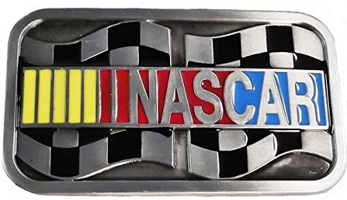 Nascar Racing Logo Metal Enamel Belt Buckle