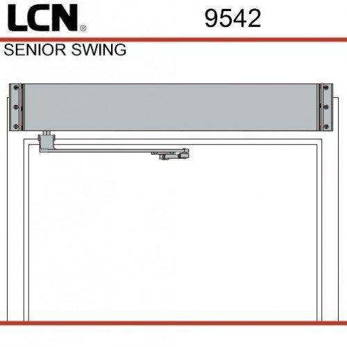 LCN 9542 Senior Swing PUSH ANCLR-120v,1A Left Hand by Lcn