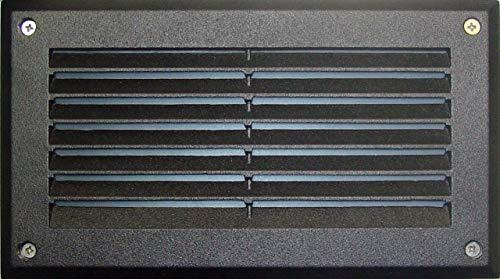Dabmar Lighting DSL1000-B Louvered Down Incand 120V Step Light, Black Finish