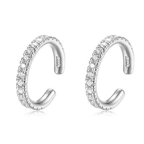 Sterling Silver Ear Cuffs No Piercings Non Pierced Cuff - Set of 2